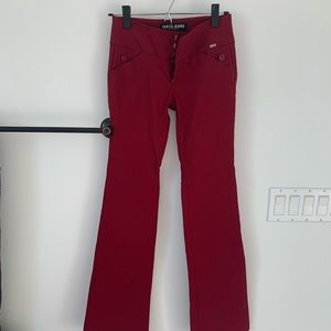 Guess jeans Pants, stretchy ,Burgundy , size 24